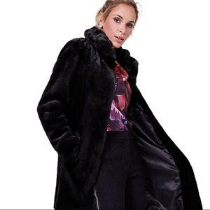 Nuage Black Faux Fur Coat Size 2XL